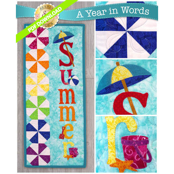 A Year In Words Wall Hangings - Summer - July - PDF Download