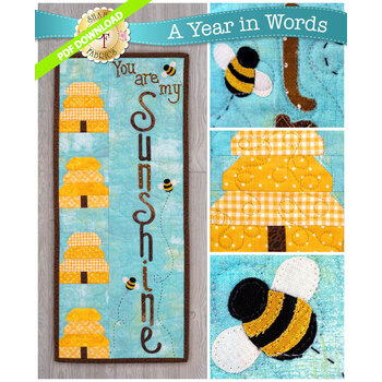 A Year In Words Wall Hangings - Sunshine - August - PDF Download