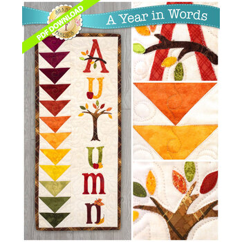 A Year In Words Wall Hangings - Autumn - September - PDF Download
