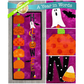 A Year In Words Wall Hangings - Halloween - October - PDF Download