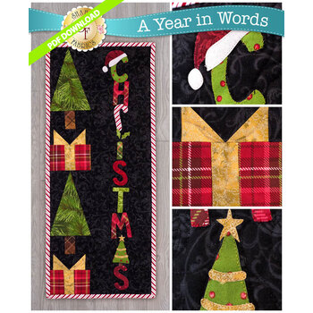 A Year In Words Wall Hangings - Christmas - December - PDF Download