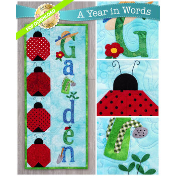 A Year In Words Wall Hangings - Garden - June - PDF Download