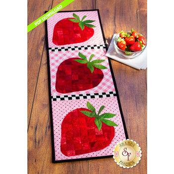 Patchwork Accent Runner - Strawberries - June - PDF Download