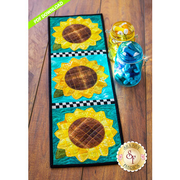 Patchwork Accent Runner - Sunflowers - August - PDF Download