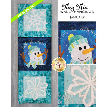 Tiny Trio Wall Hangings - Let It Snow - January - PDF Download