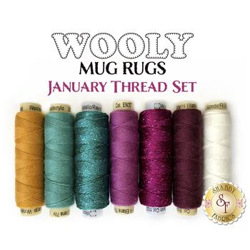 Wooly Mug Rug Series - January - 7 pc Thread Set