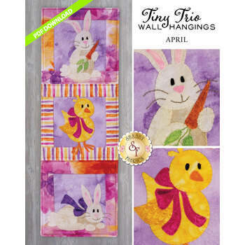 Tiny Trio Wall Hangings - Hoppy Easter - April - PDF Download