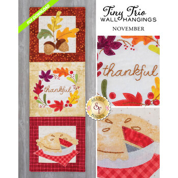 Tiny Trio Wall Hangings - Thankful - November - PDF Download