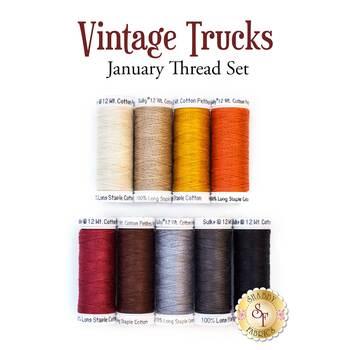 Vintage Trucks - January - 9 pc Thread Set