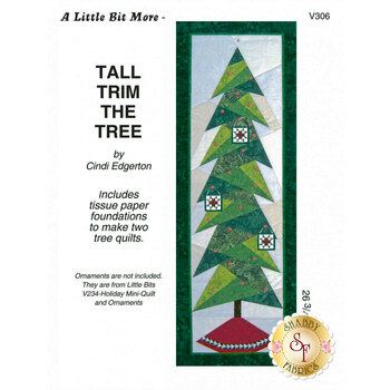 Tall Trim the Tree Pattern with Tissue Paper Foundations
