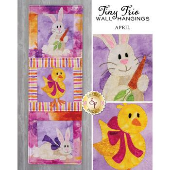 Tiny Trio Wall Hangings - Hoppy Easter - April - Pattern