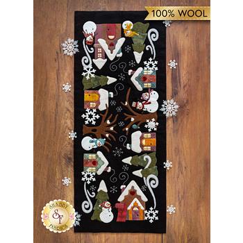 Snowman Lane Table Runner - Wool Kit