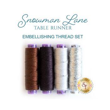 Snowman Lane Table Runner - 4 pc Embellishing Thread Set