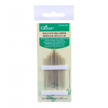 Clover Gold Eye Milliners Needles - Size 3/9 16ct