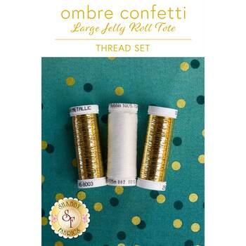 Ombre Confetti Large Jelly Roll Tote - 3 pc Thread Set