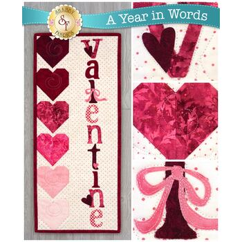 A Year In Words Wall Hangings - Valentine - February - Pattern