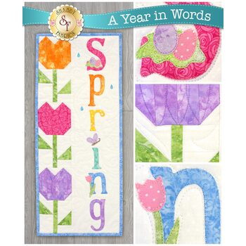 A Year In Words Wall Hangings - Spring - April - Pattern
