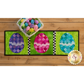 Patchwork Accent Runner - Easter Eggs - April - Pattern