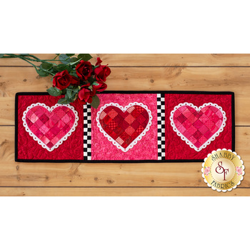 Patchwork Accent Runner - Hearts - February - Kit