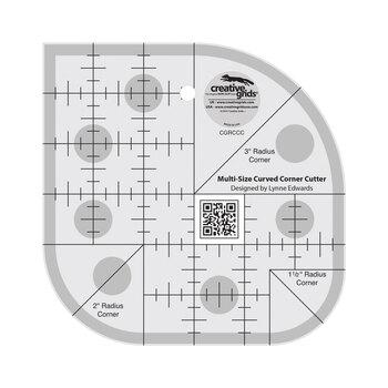 Creative Grids Curved Corner Cutter Quilt Ruler #CGRCCC