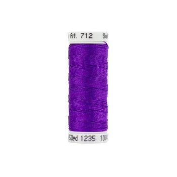Sulky 12 wt Cotton Petites Thread #1235 Deep Purple - 50 yds