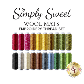 Simply Sweet Mats - 20pc Embroidery Thread Set