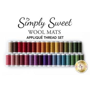 Simply Sweet Mats - 33pc Applique Thread Set