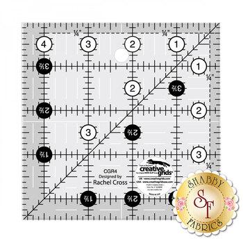 "Creative Grids - 4½"" Square Ruler #CGR4"