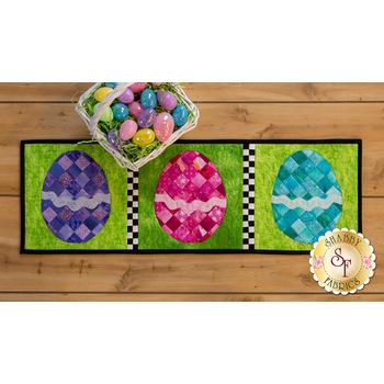 Patchwork Accent Runner - Easter Eggs - April - Kit