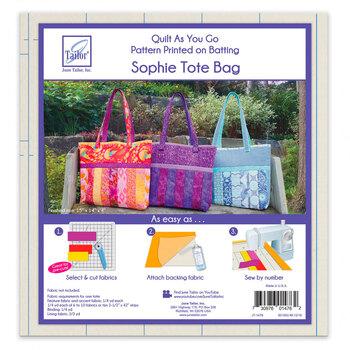 Quilt As You Go Pre-Printed Batting - Sophie Tote Bag