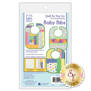 Quilt As You Go Baby Bibs 3 Pack Batting