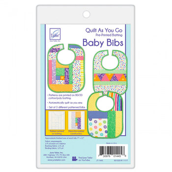 Quilt As You Go Pre-Printed Batting - Baby Bibs - Makes 3