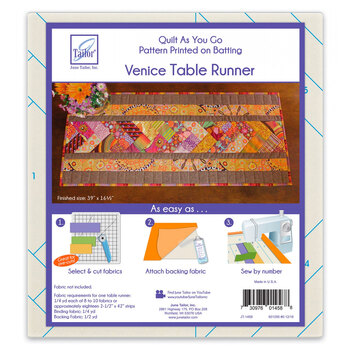 Quilt As You Go Pre-Printed Batting - Venice Table Runner