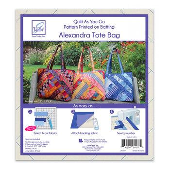 Quilt As You Go Pre-Printed Batting - Alexandra Tote