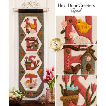 Hexi Door Greeters - April - Wool Kit