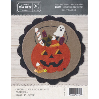 """""""Welcome"""" Home Center Circle Mat - October Pattern"""