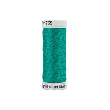 Sulky 50 wt Cotton Thread #0640 Medium Aqua - 160 yds