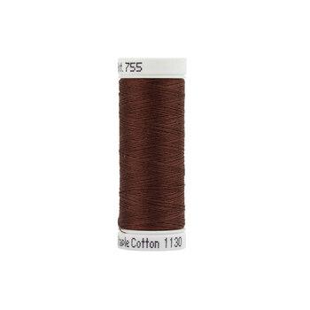 Sulky 50 wt Cotton Thread #1130 Dark Brown - 160 yds