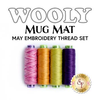 Wooly Mug Mat Series - May - 4pc Embroidery Thread Set