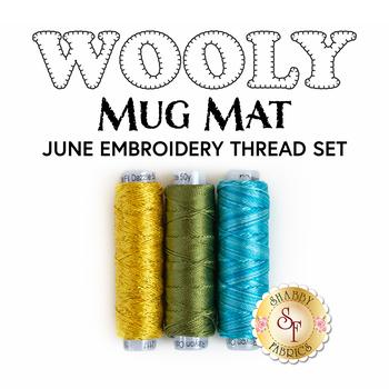 Wooly Mug Mat Series - June - 3 pc Embroidery Thread Set