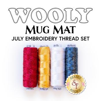 Wooly Mug Mat Series - July - 4pc Embroidery Thread Set