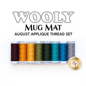 Wooly Mug Mat Series - August - 8pc Applique Thread Set