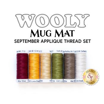 Wooly Mug Mat Series - September - 6pc Applique Thread Set