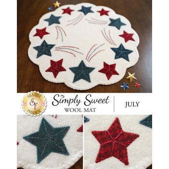 Simply Sweet Mats - July - Wool Kit