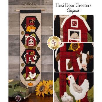 Hexi Door Greeters - August - Wool Kit