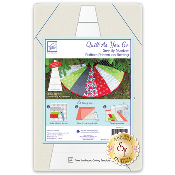 Quilt As You Go Pre-Printed Batting - Tree Skirt