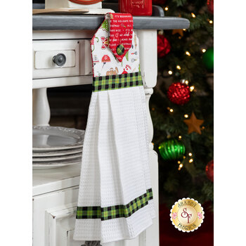 Hanging Towel Kit - We Whisk You A Merry Christmas - White