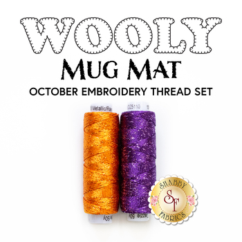 Wooly Mug Mat Series - October - 2pc Embroidery Thread Set