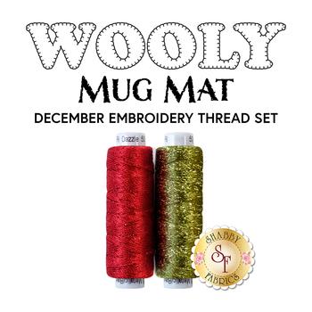 Wooly Mug Mat Series - December - 2pc Embroidery Thread Set