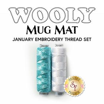 Wooly Mug Mat Series - January - 2pc Embroidery Thread Set